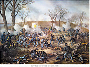 Confederate Flag Framed Prints - Battle Of Fort Donelson Framed Print by Granger
