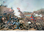 Confederate Flag Photo Posters - Battle Of Franklin, 1864 Poster by Granger