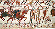Normans Photos - Battle Of Hastings, Bayeux Tapestry by Photo Researchers