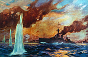 Jutland Framed Prints - Battle Of Jutland, 1916 Framed Print by Granger