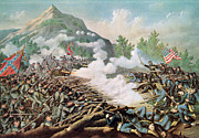 U.s Army Painting Metal Prints - Battle of Kenesaw Mountain Georgia 27th June 1864 Metal Print by American School