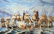 Lake Erie Framed Prints - Battle Of Lake Erie, 1813 Framed Print by Granger