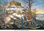 Confederate Flag Photo Posters - Battle Of Lookout Mount Poster by Granger