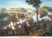 Confederate Flag Prints - Battle Of Missionary Ridge Print by Granger