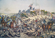 U.s Army Painting Metal Prints - Battle of Nashville December 15-16th 1864 Metal Print by American School
