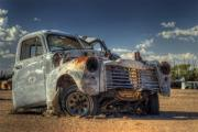 Wrecked Cars Photos - Battle of One by Wayne Stadler
