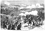 Pea Ridge Posters - Battle Of Pea Ridge, 1862 Poster by Granger
