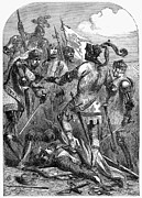 Black Prince Framed Prints - Battle Of Poiters, 1356 Framed Print by Granger