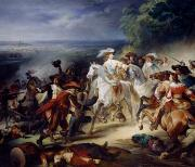 Cavalry Paintings - Battle of Rocroy by Francois Joseph Heim