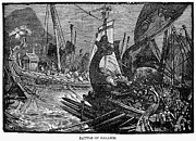 Xerxes Prints - Battle Of Salamis, 480 B.c Print by Granger
