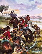 Red Coats Framed Prints - Battle of Sedgemoor Framed Print by Andrew Howart