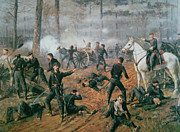 Infantry Framed Prints - Battle of Shiloh Framed Print by T C Lindsay
