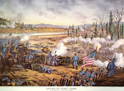 Flag Stones Posters - Battle Of Stones River, 1863 Poster by Granger