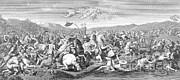 Battle Of The Milvian Bridge, 312 Ad Print by Photo Researchers