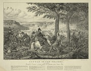 Native American Heroes Posters - Battle Of The Thames On Oct. 5 1813 Poster by Everett