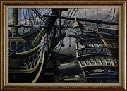 Maritime Art Paintings - Battle Of Trafalgar by Rich Holden