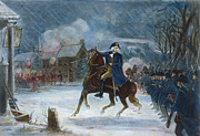 American Revolution Framed Prints - Battle Of Trenton, 1776 Framed Print by Granger