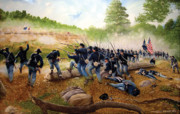 Civil Paintings - Battle Of Utoy Creek by Marc Stewart