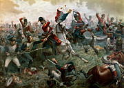 Heroic Metal Prints - Battle of Waterloo Metal Print by William Holmes Sullivan