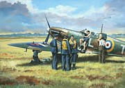 Spitfire Painting Prints - Battle Tactics Print by Colin Parker