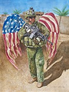 Army Paintings - Battlefield Angel by Sheila Preston-Ford