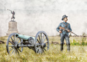 Cavalry Digital Art - Battlefield of Gettysburg by Randy Steele