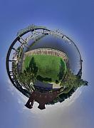 Battleship Photos - Battleship Cove Little Planet by Christopher Blake