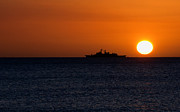 Battleship Photos - Battleship Sunset by Rob Hawkins