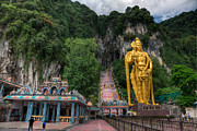 Temple Digital Art Prints - Batu Caves Print by Adrian Evans