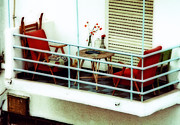 Bauhaus Photo Prints - bauhaus  Balcony Print by Isaac Silman
