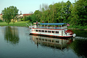 Evening Scenes Photos - Bavarian Belle leaves the dock Michigan by LeeAnn McLaneGoetz McLaneGoetzStudioLLCcom