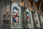 Lady Washington Prints - Bavarian Cathedral Glass - Spokane Washington Print by Daniel Hagerman