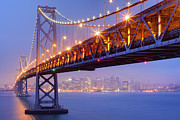 Bay Bridge Photo Metal Prints - Bay Area Bridge Metal Print by Aaron Reed Photography