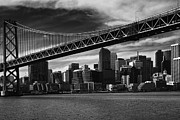 Alcatraz Art - Bay Bridge and San Francisco Downtown by Laszlo G Rekasi