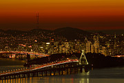 Bay Bridge Photos - Bay Bridge And San Francisco by Sebastian Kennerknecht