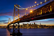 Californian Prints - Bay Bridge Print by Inge Johnsson