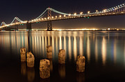 Bay Prints - Bay Bridge Reflections Print by Connie Spinardi