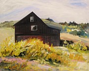 Old Barn Paintings - Bay Farm by John  Williams