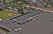 Aerial Photos Prints - Bay Head Yacht Club Barnegat Bay New Jersey Print by Duncan Pearson