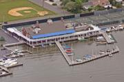 Aerial Photos Prints - Bay Head Yacht Club Print by Duncan Pearson