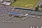 Aerial Photos Prints - Bay Head Yacht Club II Print by Duncan Pearson
