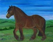 Bay Horse Print by Anna Folkartanna Maciejewska-Dyba