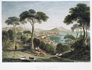 Italian Landscape Photo Prints - BAY OF NAPLES, 19th CENTURY Print by Granger