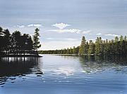 Ontario Paintings - Bay on Lake Muskoka by Kenneth M  Kirsch