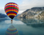 Hot Air Balloon Prints - Bay Skimmer Print by Michael Peychich