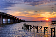 Bay St. Louis Sunset Print by Brian Wright