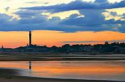 Provincetown Posters - Bay Sunset Poster by Sue  Brehant
