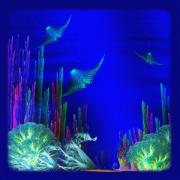 Fantasy Creatures Prints - Bay World Print by Lynn Smith
