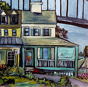 Charming Town Paintings - Bayard House in Chesapeake City by Carol Mangano