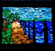 Florida Glass Art - Bayfront by Sheri Thrift Roberson
